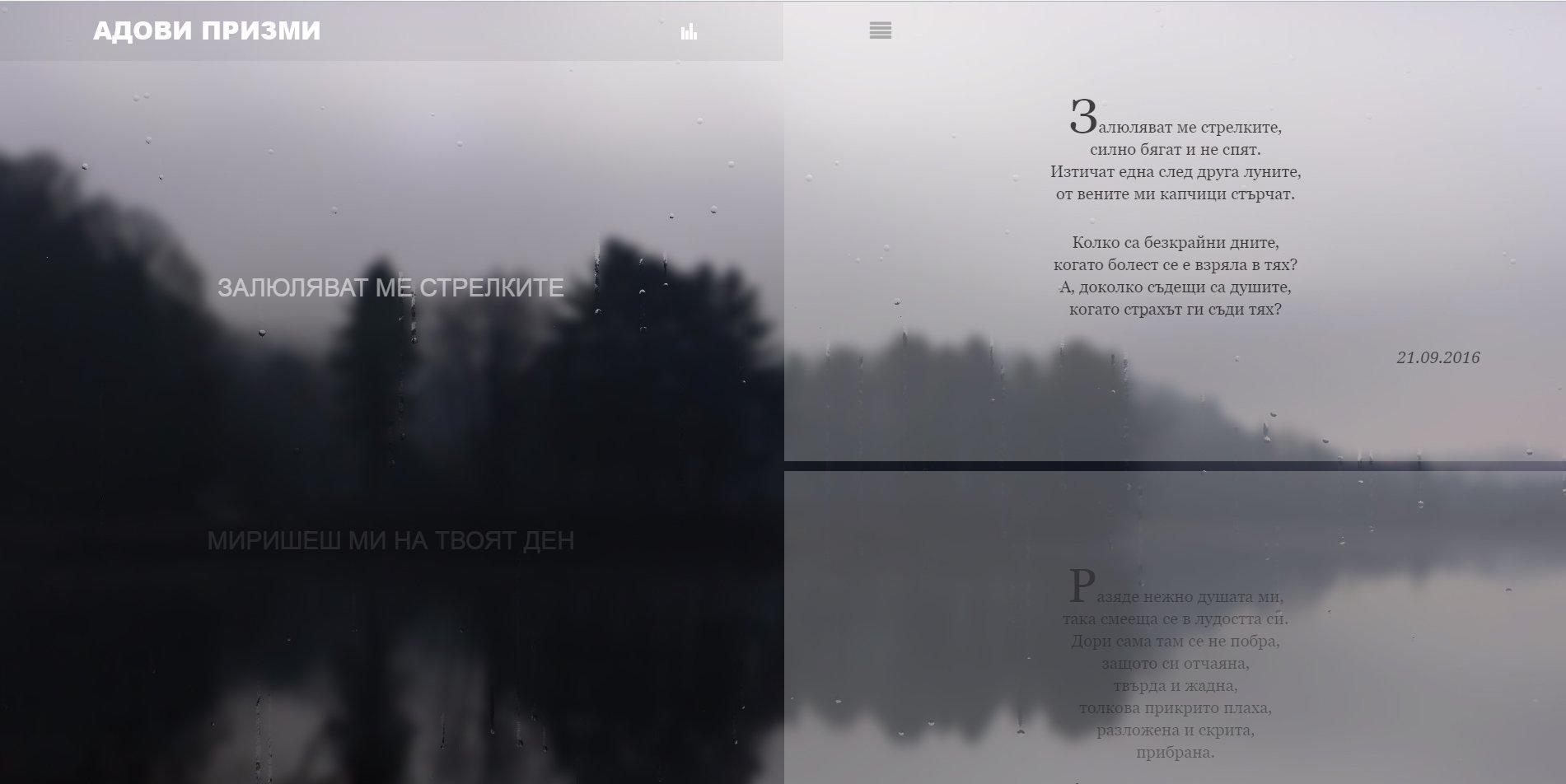 Изработка на сайт за поезия – Пловдив
